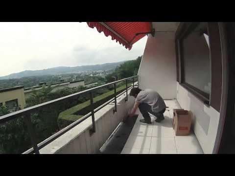 Plattenverlegung am Balkon einfach gemacht mit TERRA LEVEL Plattenlager