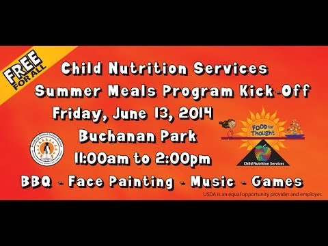 PUSD Child Nutrition Services FREE Summer Meals Program