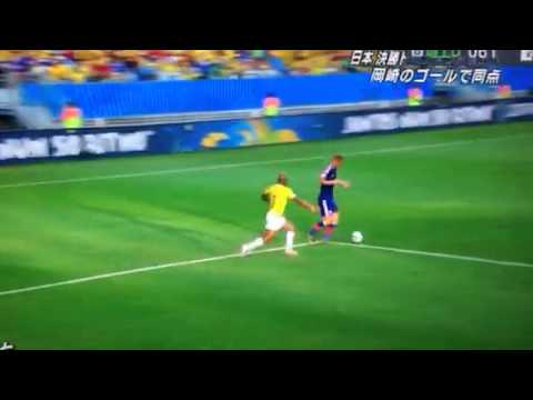 ◆W杯速報◆C組 日本✕コロンビア 岡崎同点弾!!本田アシスト!
