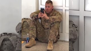 """Airport Staff Hear """"Don't Let Him Board The Flight, They Spot Soldier Crying At Sight On His Phone"""