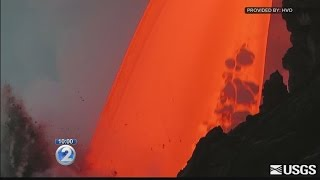 Sudden cliff collapse highlights danger of Kilauea's volatile lava flow