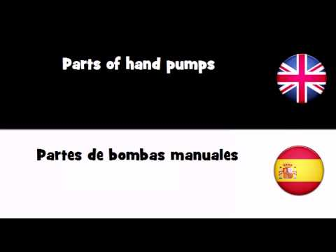 APRENDER INGLÉS = Partes de bombas manuales