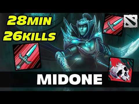 MidOne PA - 26 KILLS in 28 MIN Dota 2
