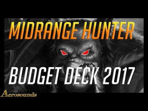 Midrange hunter budget deck 2017- Hearthstone Un'goro gameplay