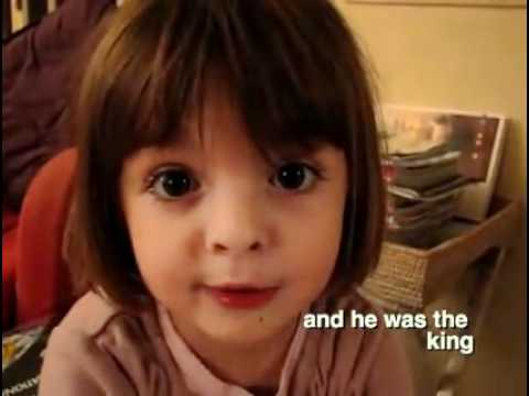 French cute kid tells a story (Winnie the pooh)