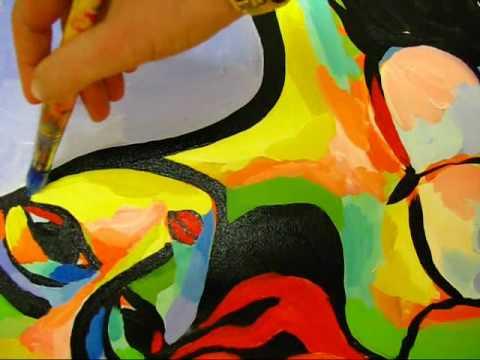 Modern Fauve Girl original contemporary acrylic painting