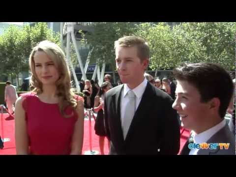 Bridgit Mendler, Jason Dolley &amp; Bradley Steven Perry Interview - 2012 Creative Arts Emmys