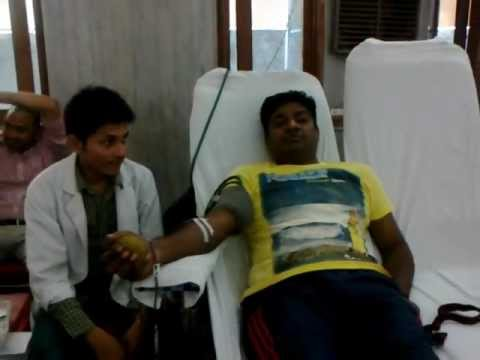 donating blood ......... you also do it .......... feel good ........
