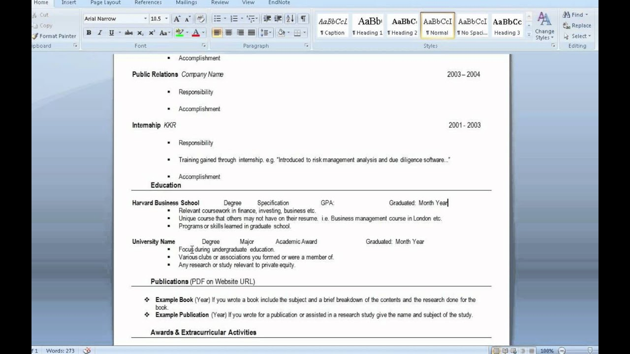 Private equity resume deal sheet