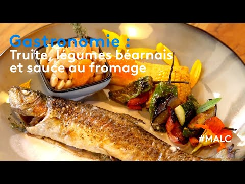 Gastronomie : truite, légumes béarnais et sauce au fromage