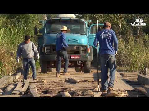 Prefeitura inicia reconstrução da ponte na Comunidade Santa Luzia no Distrito do Caramujo