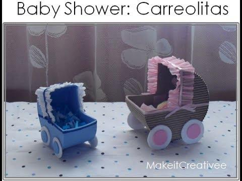 Cunas de papel para baby shower - Imagui