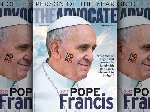 The Second Beast : False Prophet Pope Francis named The Advocate Man of the Year (Dec 19, 2013)