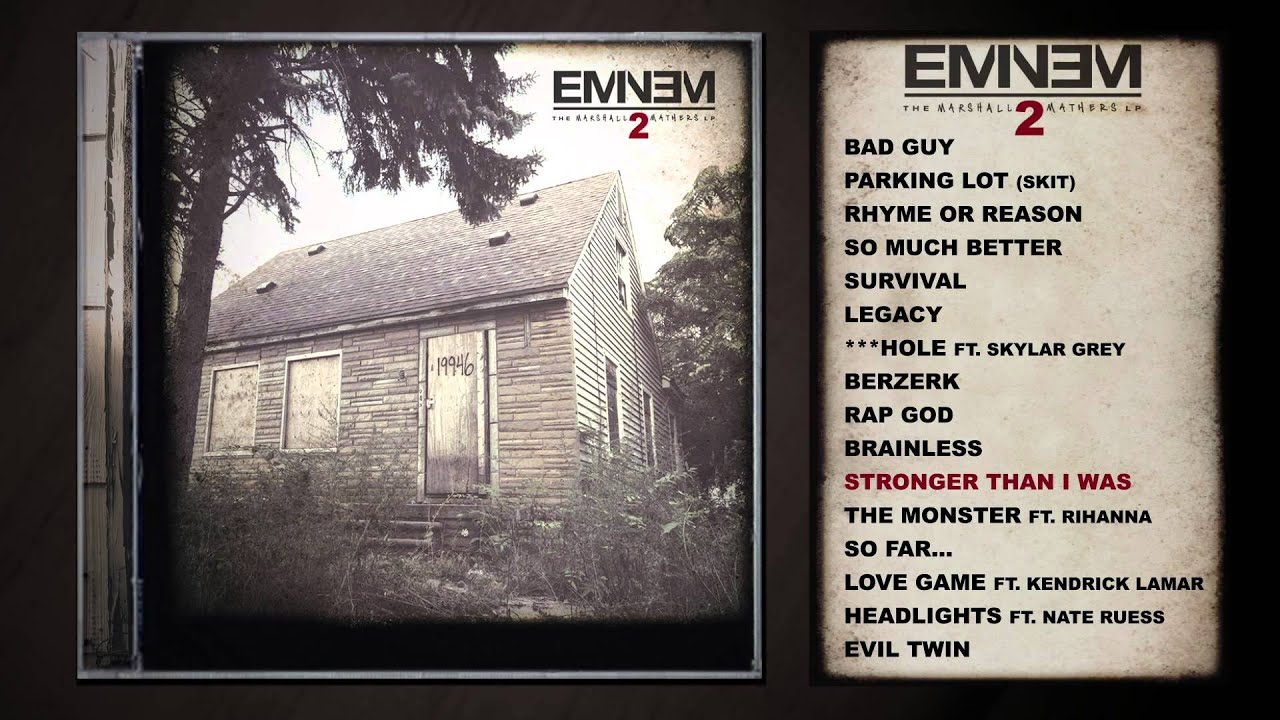 why eminem s the marshall mathers lp With eminem's new album coming out soon, so so active brings you the ten must know facts about the marshall mathers lp, the album that many think is his best.