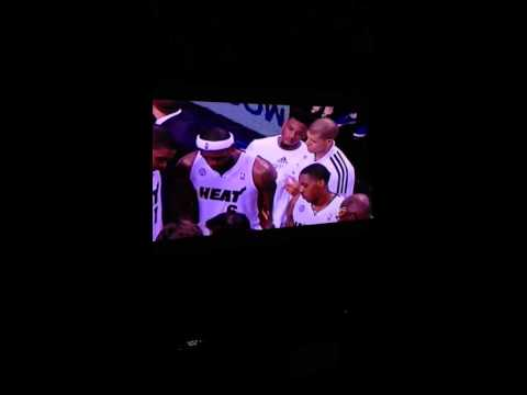 shane battier wipes lebron down lol