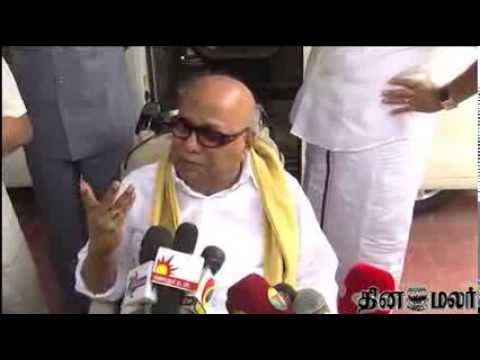 DMK to Contest alone in Up Coming Loksabha Elections - Karunanidhi - Dinamalar Dec 17th News