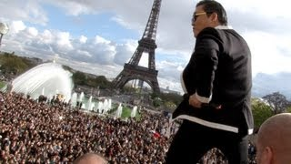 PSY GANGNAM STYLE Paris live flashmob at Trocadero with Cauet (NRJ) 파리 강남스타일 5.11.2012