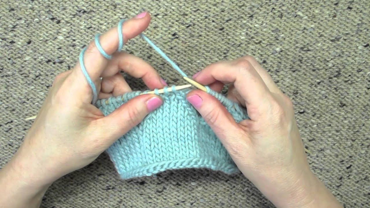 Knitting Stitches Central Double Decrease : Knitting Technique Central Double Decrease - YouTube