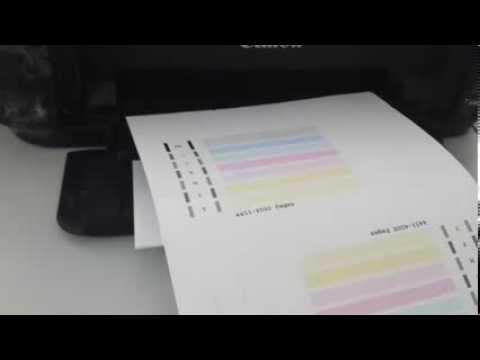 Como limpiar los inyectores en una impresora canon MG2120 MG2220
