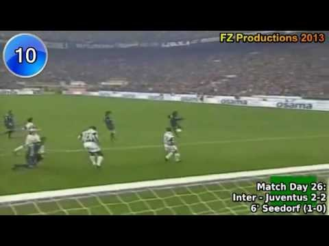 Clarence Seedorf - 58 goals in Serie A (part 1/2): 1-27 (Sampdoria, Inter, Milan 1995-2006)