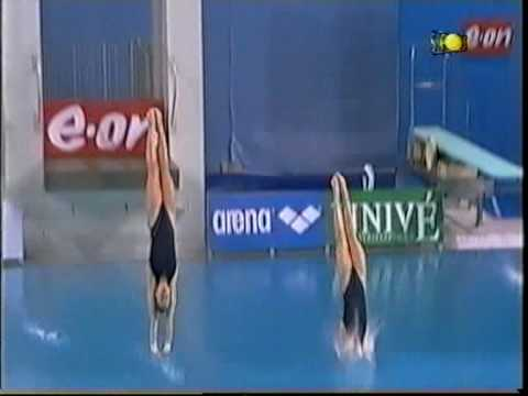 Noemi Batki e Tania Cagnotto - Finale piattaforma sincro 10 m Eindhoven