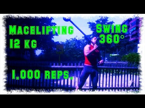 Heavy Macebell 12 kg Swing 360º one arm 1.000 reps 27´03´´ Madrid Spain