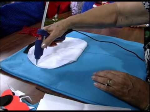 Mulher.com 27/11/2012 Ana Maria Ronchel - Encosto de cadeira natalina 1/2