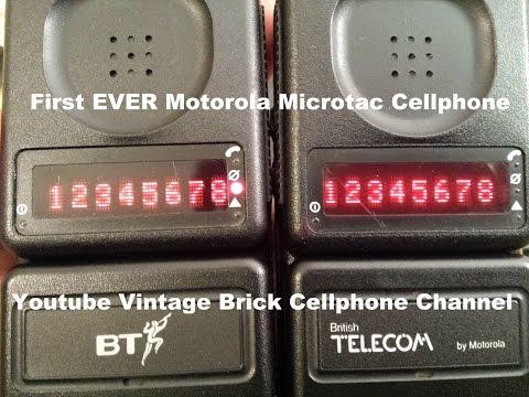 1989 Motorola Microtac 9800X British Telecom version