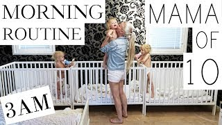 MY MORNING ROUTINE with 10 CHILDREN - ( PART 1/3 )