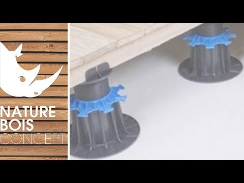 plots pvc r glables pour terrasse bois et dalle youtube. Black Bedroom Furniture Sets. Home Design Ideas