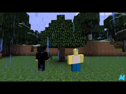 Minecraft Meets Roblox, Like us on facebook -- http://facebook.com/maxbenedekvideos In this MaxBenedek Quickie, Bob travels to the world of Minecraft with hopes of finding out how i...