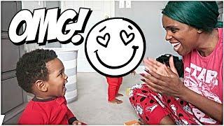 JAXSON SURPRISES MOMMY! 👶🏽👶🏾😍