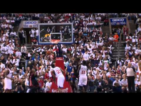 Dunk of the Night: Dwyane Wade NASTY One-Handed Putback Dunk against the 76ers in HD