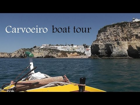 ALGARVE: Carvoeiro boat tour to sea caves (Portugal) HD