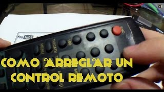 Arreglar un control remoto