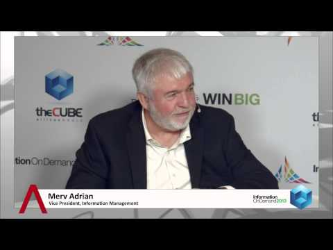 Merv Adrian - IBM Information on Demand 2013 - theCUBE