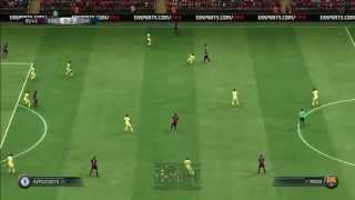 FIFA 15 Gameplay FC Barcelona Chelsea PS3 HD