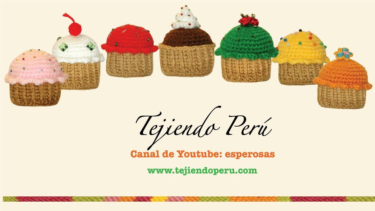 Tutorial Amigurumi Esperanza Rosas : Cupcakes o pastelitos tejidos en crochet (amigurumi) - YouTube