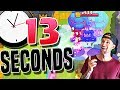 Record FASTEST win EVER 13 Second Clash Royale Victory