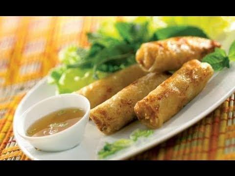 Recette des nems vietnamiens au crabe et aux crevettes - Youtube herve cuisine ...
