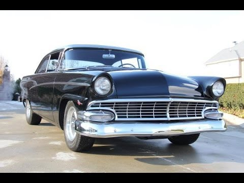 1956 Ford Customline Test Drive Classic Muscle Car For
