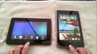 Nexus 7 vs BlackBerry PlayBook karşılaştırma