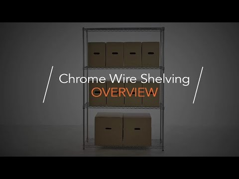 Chrome Wire Shelving Unit with Heavy-Duty Wheels - 5 Shelves, H1875 x W450 x D450 mm