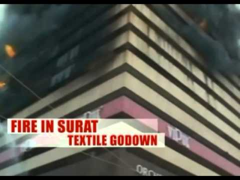 Fire at 17 Storey Textile Godown in Surat, No Casualties Reported