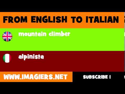 How to say mountain climber in Italian