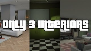 GTA V Online Only 3 Apartment Interiors