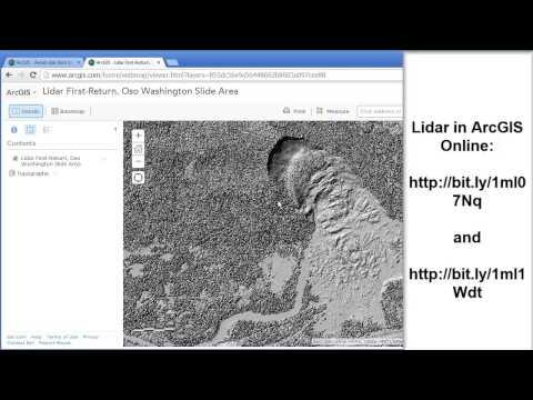 Investigating the Oso Washington Landslide Using Lidar Imagery in ArcGIS Online