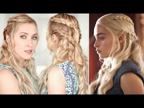 Daenerys/Khaleesi hair tutorial. Braid hairstyle from Game of Thrones