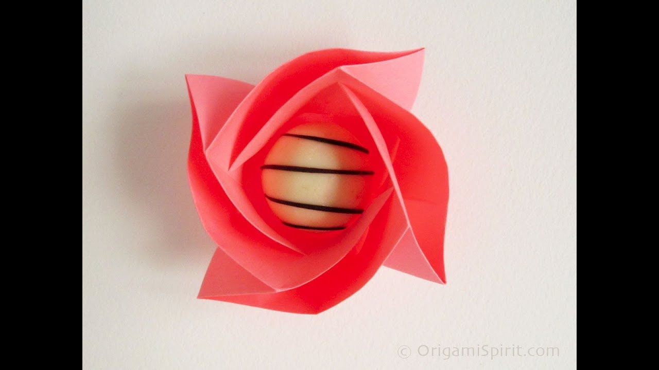 Origami flower box rose mightylinksfo