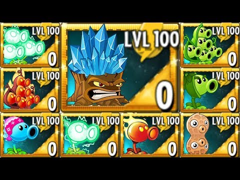 Plants vs. Zombies 2 All Pea & Torchwood LEVEL 100 Power Up Challenge!